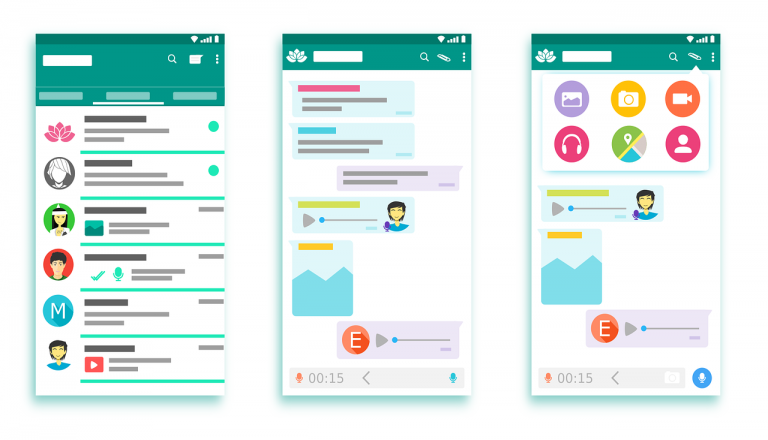 whatsapp interface, apps, android